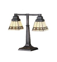 "Meyda Tiffany 48204 Diamond Mission 2 Arm Desk Lamp, 20"" Height - $313.74"