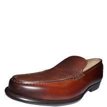 Genuine Leather Brown Rounded Toe Men Classical Men Moccasin Loafer SlipOn Shoes image 2