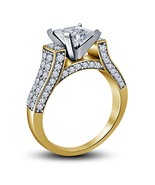 Princess Cut Diamond Womens Engagement Ring 14k Gold Finish 925 Sterling... - $72.99