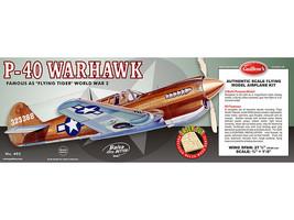 Guillow's Balsa Wood Model Airplane Kit, WW II Curtis P-40 Warhawk  GUI-405 - $44.55