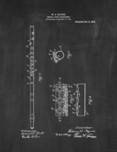 Musical Wind Instrument Patent Print - Chalkboard - $7.95+