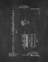 Musical Wind Instrument Patent Print - Chalkboard - $7.95+