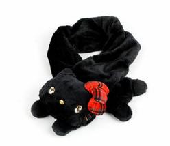 Hello Kitty Die-Cut Pull Through Scarf: Plaid Bow NWT - $59.00