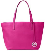 Michael Kors Large Izzy Fuchsia & Silver Leather Tote / Shoulder Bag NWT - $179.00