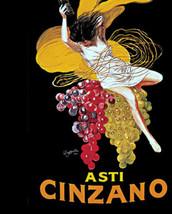 Asti Cinzano Wine Advertisement, Leonetto Cappiello, c. 1920, art deco e... - $18.99