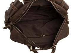 On Sale, Natural Leather Men's Travel Bag, Laptop Bag, Men Leather Briefcase image 6