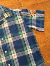 Gap Kids Boy's Blue, Green & White Plaid Short Sleeve Dress Shirt - Size: Medium image 8