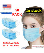 50 PCS Face Mask Medical Surgical Dental Disposable 3-PLY Earloop Mouth ... - $33.14