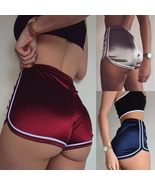 2019 New Women Shorts Summer Silky Slim Shorts High Waist White Edge Hot... - $10.08