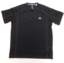 Adidas Graphic Tee, Logo on Left, Black, Lg - $15.83