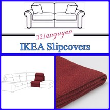 IKEA LIDHULT Slipcover Cover for !-Seat Section Lejde red-brown 804.040.02 - $59.99