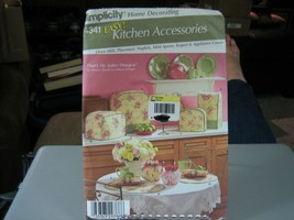 Simplicity 4341 Tea Cozy Oven Mitt Place Mat Napkins Appliance Covers Pattern  - $7.91