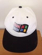 Vintage 1995 Microsoft Windows 95 Software Logo White Normcore Baseball ... - $131.99