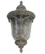 Kalco Lighting Wall Lantern Hammered Glass Feldspar Finish Outdoor Patio... - $135.19