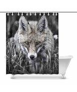 InterestPrint Cool Fox Animal Art Waterproof Polyester Fabric Shower Cur... - $30.68