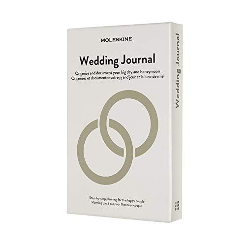 """Moleskine Passion Journal, Wedding, Hard Cover, Large (5"""" x 8.25"""") Pearl Grey"""