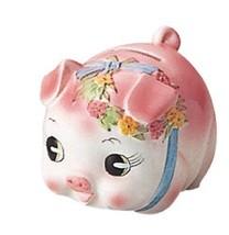 Piggy bank pig piggy bank small pink S-62A - $49.91