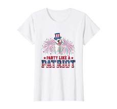 Uncle Shirts -   Pit Bull Party Like A Patriot T-Shirt 4th Of July American Wowe - $19.95+