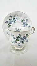 Paragon China Footed Cup and Saucer- Forget Me Not Pattern - $29.70