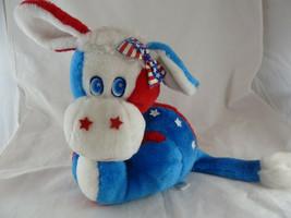 Vintage Gerber Atlanta Novelty Red White Blue Donkey Democratic USA 4th ... - $19.79