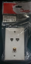 Quest Tech. VHT-9511 6p Single RJ12, RJ-45. F-81, White - $4.95