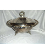 Rare Vintage 3 Pc Oneida Du Maurier Silver Plate Soup Tureen Roses Scrol... - $173.25