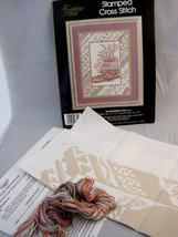 "Golden Bee Picture Cross Stitch Kit Southwestern Pot 16"" X 20"" Tan Pink - $20.95"