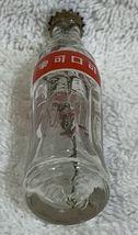 China Coke Coca-Cola Mini Miniature dried Purple Flowers crystal glass bottle image 4