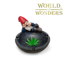 Smoking Gnome Novelty Gift Ashtray Jewelry Ring Dish Collectible Stoner ... - $19.75