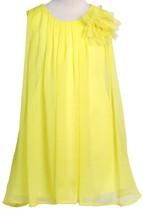 Flower Girl Dress Chiffon Pleaded with Flower Yellow CA CJ104 - $29.69+