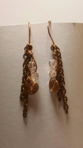 Elegant Bohemian Dangle Earrings with Swarovski Elements - $8.99