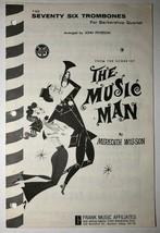 The Music Man Vintage Sheet Music  Seventy Six Trombones 1958 Meredith W... - $12.62
