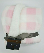 Blankets & Beyond Baby Blanket Pink Girl Plaid Velour Plush Security NEW... - $39.99