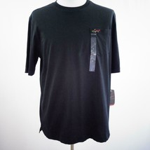 Greg Norman Lux Shark Classic Fit Black T Shirt Mens Sz L New - $28.93