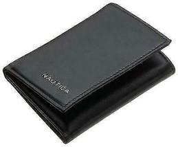 Nautica Men's Genuine Leather Trifold Credit Card ID Holder Wallet 31NU110003
