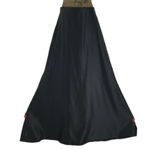 VTG Tadashi 14 Med Maxi Skirt Long Black Satin Full Special Occasion Par... - $39.95