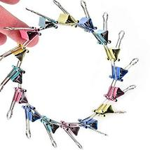 240 Pcs Assorted Colors Binder Clips, Paper Clips, Rubber Bands, Paper Clamps,Pa image 5