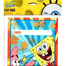Sponge Bob Square Pants Buddies Treat Loot Bags 8 Count Birthday Party S... - $3.91