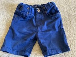 H&M Boys Navy Blue Bermuda Shorta Adjustable Waist 12-18 Months - $5.48