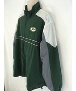 Dunbrooke SI Mens 2XL Green Bay Packers Zip Front Lined Lt Wt Windbreakr... - $19.80