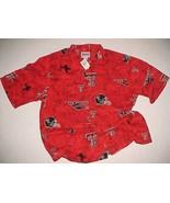 Texas Tech Red Raiders NCAA Big 12 Reyn Spooner Rayon Motif Camp Shirt L... - $89.09