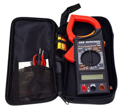 Digital Clamp Meter With Data Hold and Protective Carry/Storage Case 2490 - $29.97