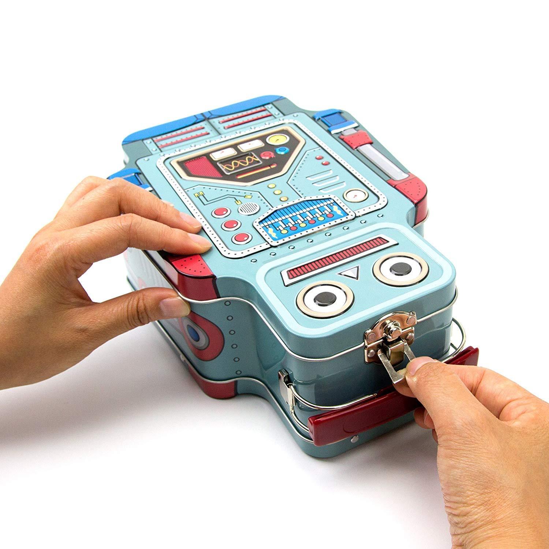 SUCK UK Robot Tin Lunch Box