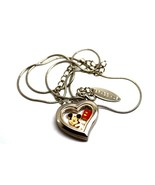 BRACCIALE HEART DISNEY LOCKET MICKEY MOUSE HAND SILVER NECKLACE FLOATING... - $24.74