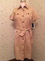 Khaki Shirt Waist Dress - Anne Klein - Size 8 Petite - NWT - $36.45