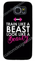 Workout Gym Beast Pink Fitness Phone Case For Samsung Note Galaxy S4 S5 S6 S7 S8 - $14.88