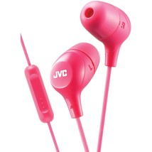 JVC HAFX38MP Marshmallow Inner-Ear Headphones with Microphone (Pink) - $30.11