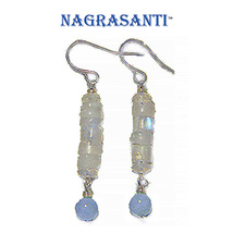 Nagrasanti SS Moonstone/Aquamarine Dangle Earrings - €22,25 EUR