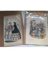 Vintage Original Godeys Ladies Fashion Prints - 1876 - $24.74