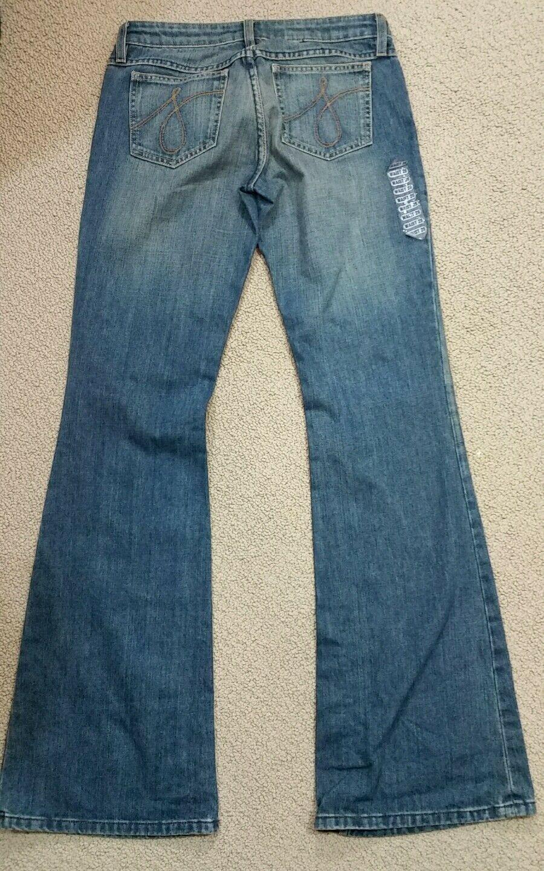 Juicy Couture Denim Jeans Low Rise Boot Cut Sz 28 x 34 NWOT image 2